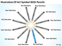 Illustration Of Art Symbol With Pencils Ppt Best Business Plan Software PowerPoint Slides