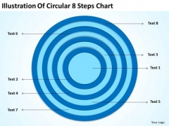 Illustration Of Circular 8 Steps Chart Best Business Plan Templates PowerPoint