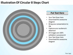 Illustration Of Circular 8 Steps Chart Example Small Business Plan PowerPoint Templates