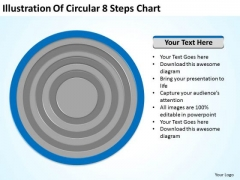 Illustration Of Circular 8 Steps Chart Ppt Business Plan PowerPoint Slides