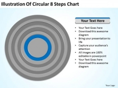 Illustration Of Circular 8 Steps Chart Ppt Sample Business Plan Template PowerPoint Slides