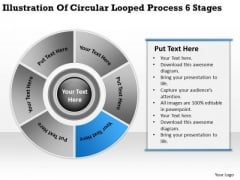 Illustration Of Circular Looped Process 6 Stages Business Plan PowerPoint Templates