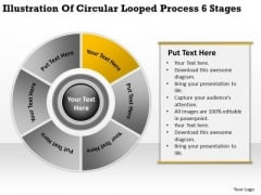 Illustration Of Circular Looped Process 6 Stages Make Business Plan PowerPoint Slides