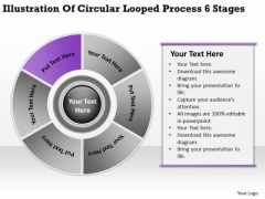 Illustration Of Circular Looped Process 6 Stages Ppt Business Plan Help PowerPoint Slides