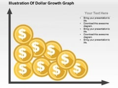 Illustration Of Dollar Growth Graph PowerPoint Template