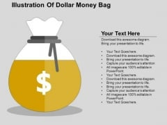 Illustration Of Dollar Money Bag PowerPoint Templates