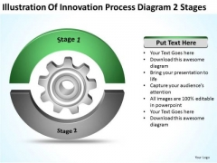 Illustration Of Innovation Process Diagram 2 Stages Business Proposal PowerPoint Templates