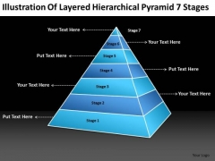 Illustration Of Layered Hierarchical Pyramid 7 Stages Best Business Plan PowerPoint Templates