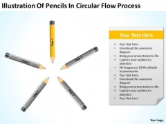 Illustration Of Pencils In Circular Flow Process Ppt Business Plan Project PowerPoint Templates