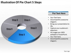 Illustration Of Pie Chart 5 Step How To Write Business Plans PowerPoint Templates