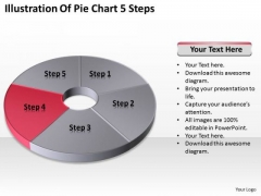 Illustration Of Pie Chart 5 Step Ppt Business Plan Sample PowerPoint Templates