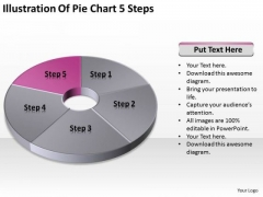 Illustration Of Pie Chart 5 Step Ppt Samples Business Plan PowerPoint Templates