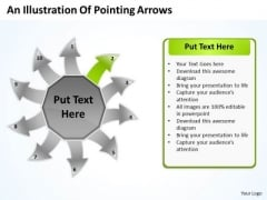 Illustration Of Pointing Arrows Network Software PowerPoint Templates