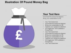 Illustration Of Pound Money Bag PowerPoint Templates