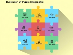 Illustration Of Puzzle Infographic PowerPoint Templates