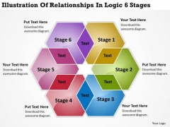 Illustration Of Relationships In Logic 6 Stages Develop Business Plan PowerPoint Slides