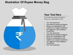 Illustration Of Rupee Money Bag PowerPoint Templates