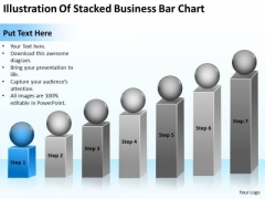 Illustration Of Stacked Business Bar Chart Ppt Consultant Plan PowerPoint Templates