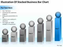 Illustration Of Stacked Business Bar Chart Ppt Examples Plan PowerPoint Templates