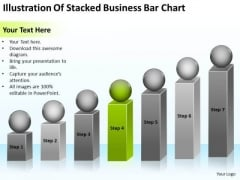 Illustration Of Stacked Business Bar Chart Ppt Plan For Hair Salon PowerPoint Templates