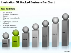 Illustration Of Stacked Business Bar Chart Ppt Plans Pro PowerPoint Templates