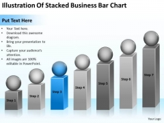 Illustration Of Stacked Business Bar Chart Start Up Plan PowerPoint Templates