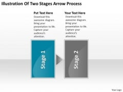 Illustration Of Two Stages Arrow Process Flowchart Program PowerPoint Templates