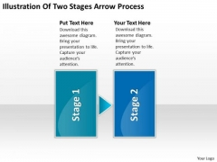 Illustration Of Two Stages Arrow Process Schematic PowerPoint Templates