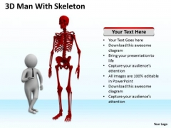 Images Of Business People 3d Man With Skeleton PowerPoint Templates