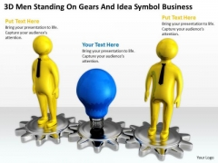 Images Of Business People And Idea Symbol Free PowerPoint Templates Slides