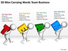Images Of Business People Carrying Words Team PowerPoint Presentation Slides