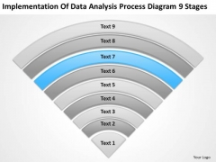 Implementation Of Data Analysis Process Diagram 9 Stages Busness Plan PowerPoint Templates