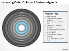Increasing Order Of Impact Business Agenda Plan Layouts PowerPoint Templates