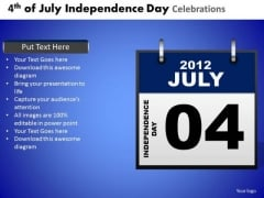 Independence Day In America 4th July PowerPoint Presentation Slides