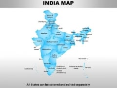 India Country PowerPoint Maps