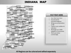 Indiana PowerPoint Maps