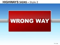 Industrial Highways Signs 2 PowerPoint Slides And Ppt Diagram Templates