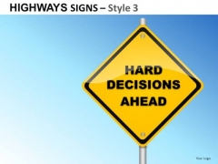 Industry Inhouse Highways Signs 3 PowerPoint Slides And Ppt Diagram Templates