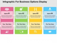 Infographic For Business Options Display PowerPoint Templates