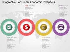 Infographic For Global Economic Prospects PowerPoint Template