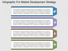Infographic For Market Development Strategy PowerPoint Templates