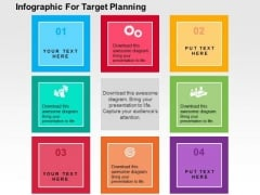Infographic For Target Planning PowerPoint Template