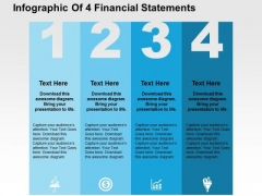 Infographic Of 4 Financial Statements PowerPoint Template