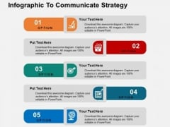 Infographic To Communicate Strategy PowerPoint Templates