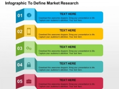 Infographic To Define Market Research PowerPoint Template