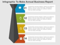 Infographic To Make Annual Business Report PowerPoint Templates
