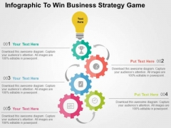 Infographic To Win Business Strategy Game PowerPoint Template