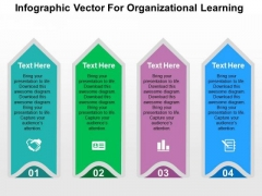 Infographic Vector For Organizational Learning PowerPoint Templates