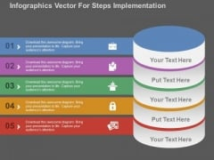 Infographics Vector For Steps Implementation PowerPoint Templates