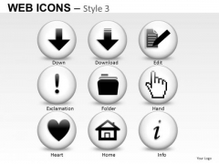 Information Internet Web Icons PowerPoint Slides And Ppt Clipart Graphics